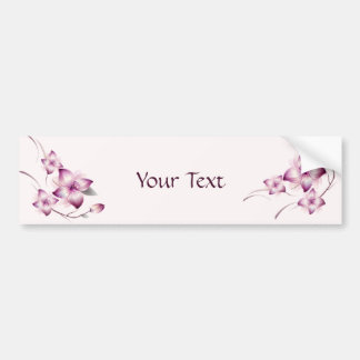 Lavender Pink Airbrush Style Flowers Bumper Stickers