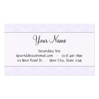 Lavender Pink Damask with Stripes and Monogram Double-Sided Standard Business Cards (Pack Of 100)