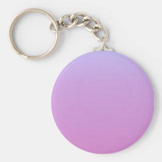 Lavender Pink Gradient Basic Round Button Keychain