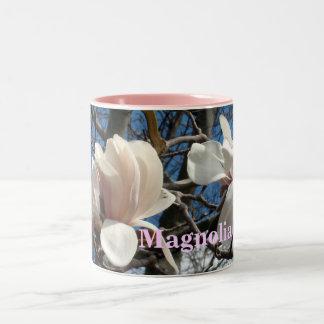 Lavender Pink Magnolia Two-Tone Coffee Mug