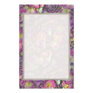 Lavender Pink Rose Petals Watercolor Stationery