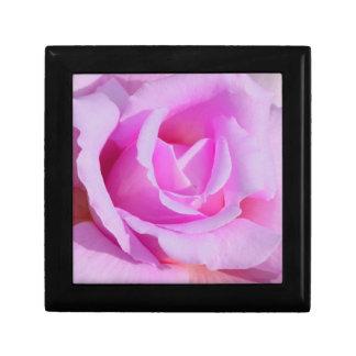 Lavender-Pink Rose Wooden Keepsake Box