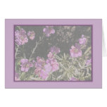 Lavender Pink Wallflower Greeting Cards