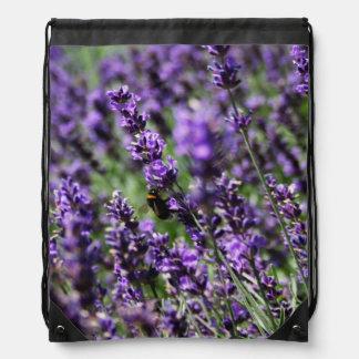 Lavender Drawstring Backpack
