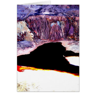 Lavender Pit Mine Abstract Design Card