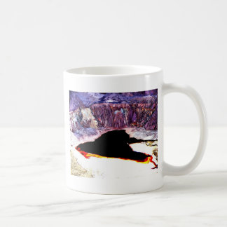 Lavender Pit Mine Abstract Design Mugs