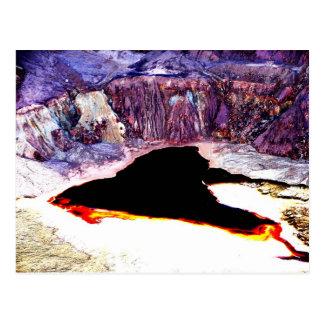Lavender Pit Mine Abstract Design Postcard