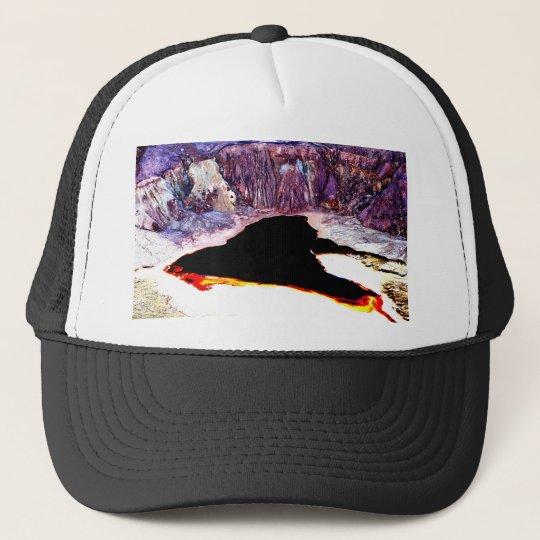 Lavender Pit Mine Abstract Design Trucker Hat