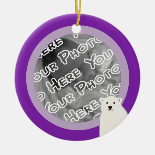 Lavender Polar Bears Ornament