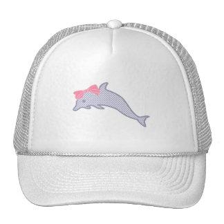 Lavender Polka-Dot Dolphin Trucker Hat