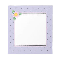 Lavender Polka Dot Note Pad