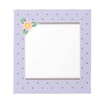 Lavender Polka Dot Notepad