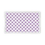 Lavender Polka Dots Acrylic Tray