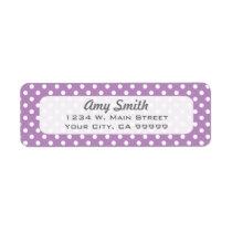 Lavender Polka Dots Return Address Labels