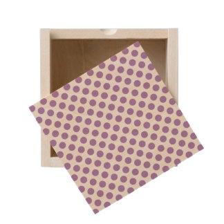 Lavender Polka Dots Wooden Keepsake Box