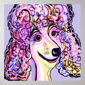 Lavender Poodle Poster
