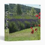 Lavender & Poppies 3 Ring Binder