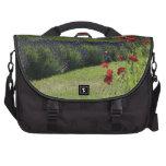 Lavender & Poppies Laptop Messenger Bag