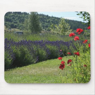 Lavender & Poppies Mouse Pad