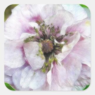Lavender Poppy Square Sticker