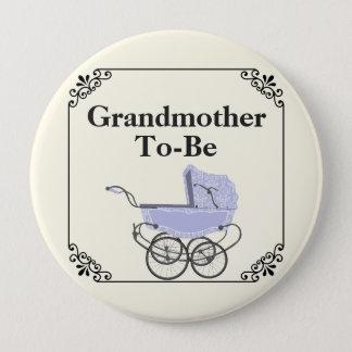Lavender Pram Grandmother's Baby Shower Button