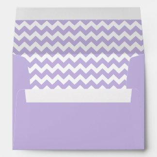Lavender Print Chevron Envelope