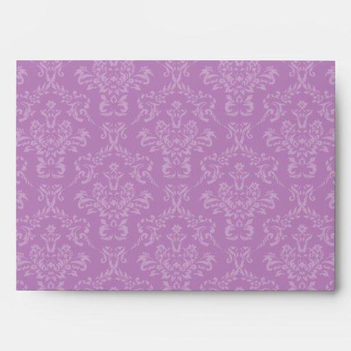 lavender purple a7 damask envelopes zazzle