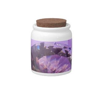 Lavender Purple Amethyst Diamond Candy Dishes