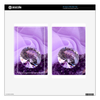 Lavender Purple Amethyst Diamond Decal For Kindle Fire