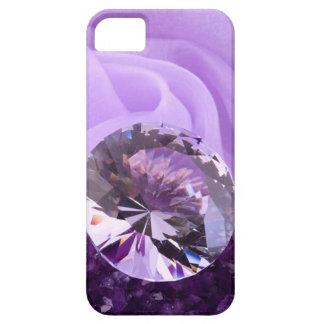 Lavender Purple Amethyst Diamond iPhone SE/5/5s Case