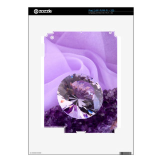 Lavender Purple Amethyst Diamond Skins For iPad 2