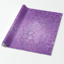 Lavender Purple Amethyst Plum Glam Giraffe  Animal Wrapping Paper