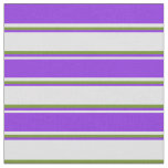 [ Thumbnail: Lavender, Purple, and Green Colored Pattern Fabric ]