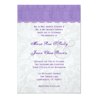 Lavender Purple and Silver Wedding Template V2 Card