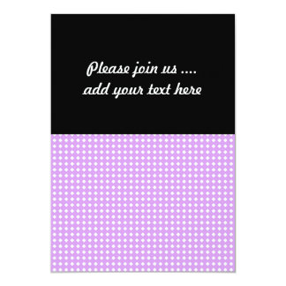 Lavender Purple and White Geometric Pattern Card