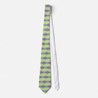 Lavender Purple Artistic Abstract Dogwood Blossoms Tie