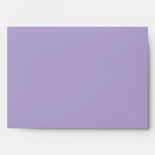 Lavender Purple Blank Customizable Envelope Envelopes