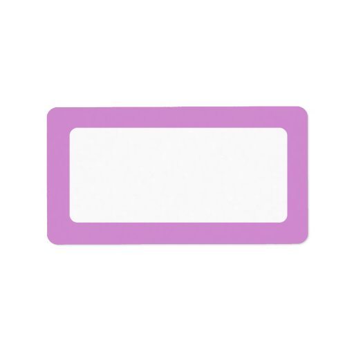 Lavender purple border blank address label