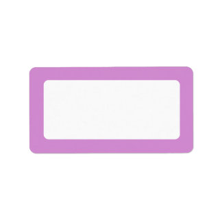 Lavender purple border blank labels