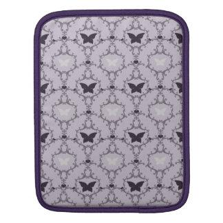 Lavender purple butterfly damask butterflies case iPad sleeve