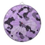 Lavender Purple Camo; Camouflage Dartboard With Darts
