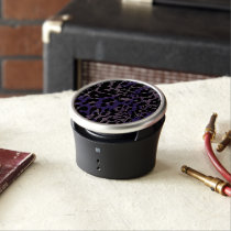 Lavender Purple Cheetah Abstract Speaker