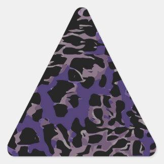 Lavender Purple Cheetah Abstract Triangle Sticker