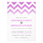 Lavender Purple Chevron Ombre Wedding Invitations
