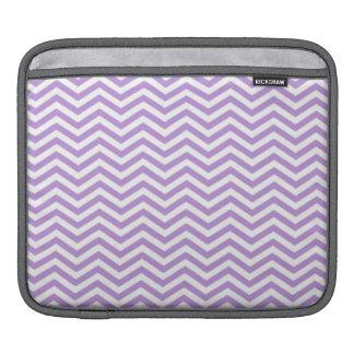 Lavender Purple Chevron Stripes Sleeve For iPads