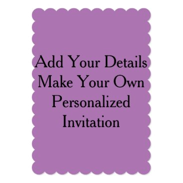 Beach Themed Lavender Purple Create Your Own Blank Invites