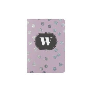 Lavender Purple Custom Monogram Passport Cover Passport Holder