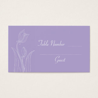 Lavender Purple Custom Wedding Table Place Cards