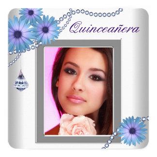 Lavender Purple Daisy  Quinceanera Invitation