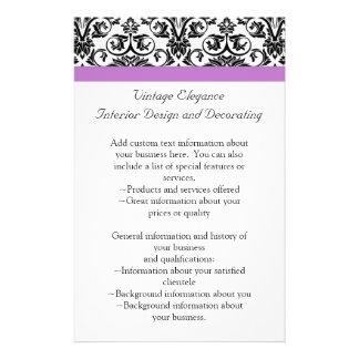 Lavender Purple Damask Black/White Flyer